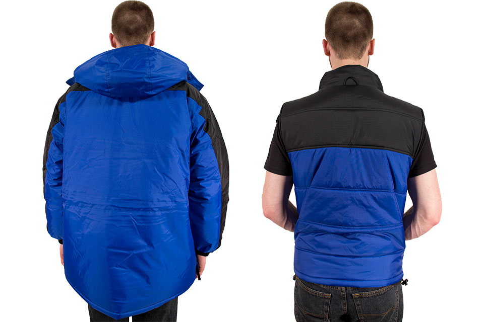 Back side views of the Freeze Defense 3-in-1 Winter Coat with Vest