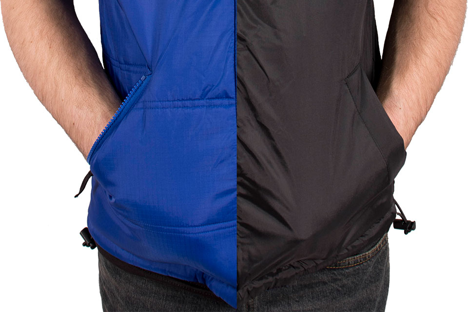 Freeze Defense vest has 2 zippered and 2 slash pockets
