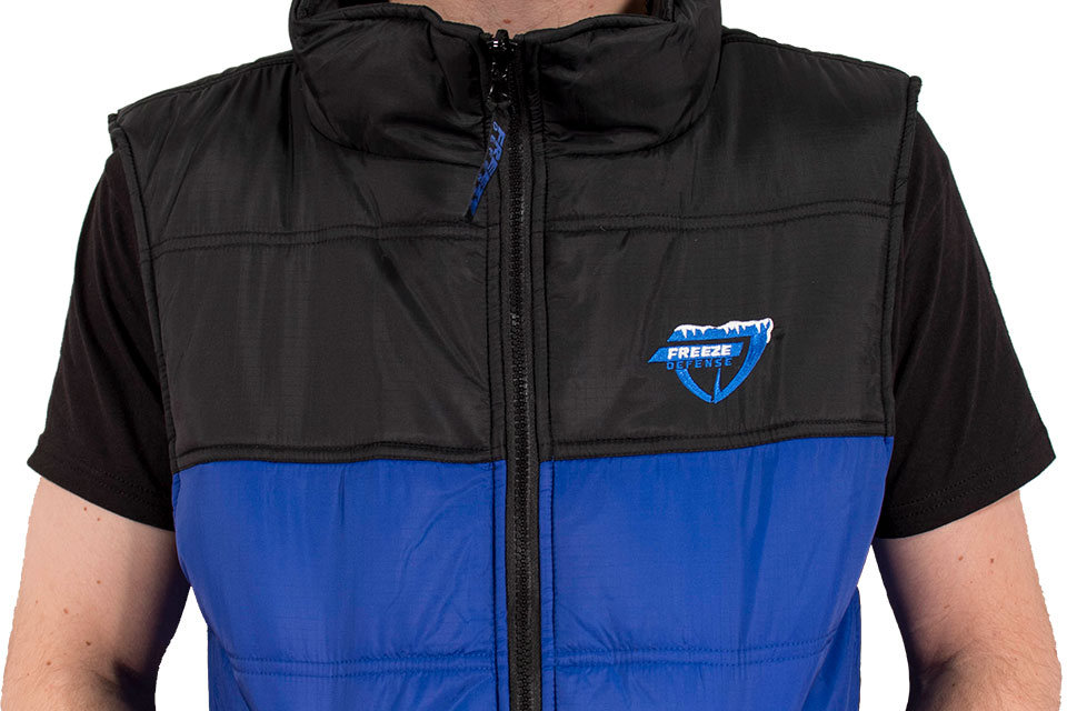 Freeze Defense vest features rip-stop nylon shell material