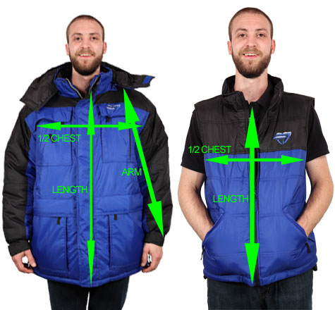 Freeze Defense 3-in-1 Winter Coat Size Chart
