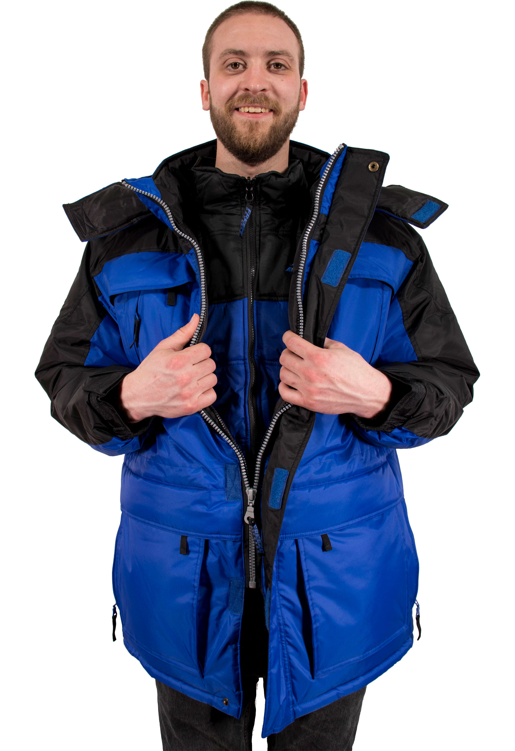 35486d981fe Freeze Defense Men s 3 in 1 Winter Coat. Our warmest coat that comes with a  vest ...