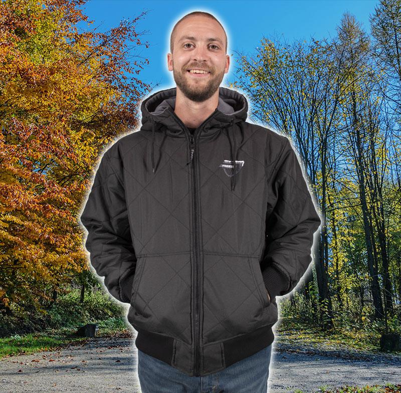 Freeze Defense Men's Fleece-lined Quilted Jacket - Black
