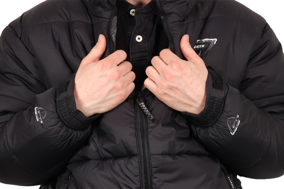 Freeze Defense Men's Puffer Jacket Wrist Cuffs