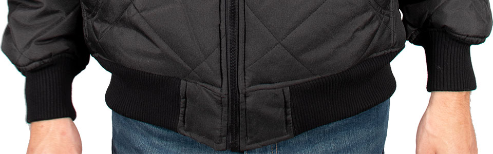 Freeze Defense Men's Quilted Jacket Elastic Waist