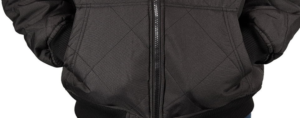 Freeze Defense Men's Quilted Jacket Front Kangaroo Pockets