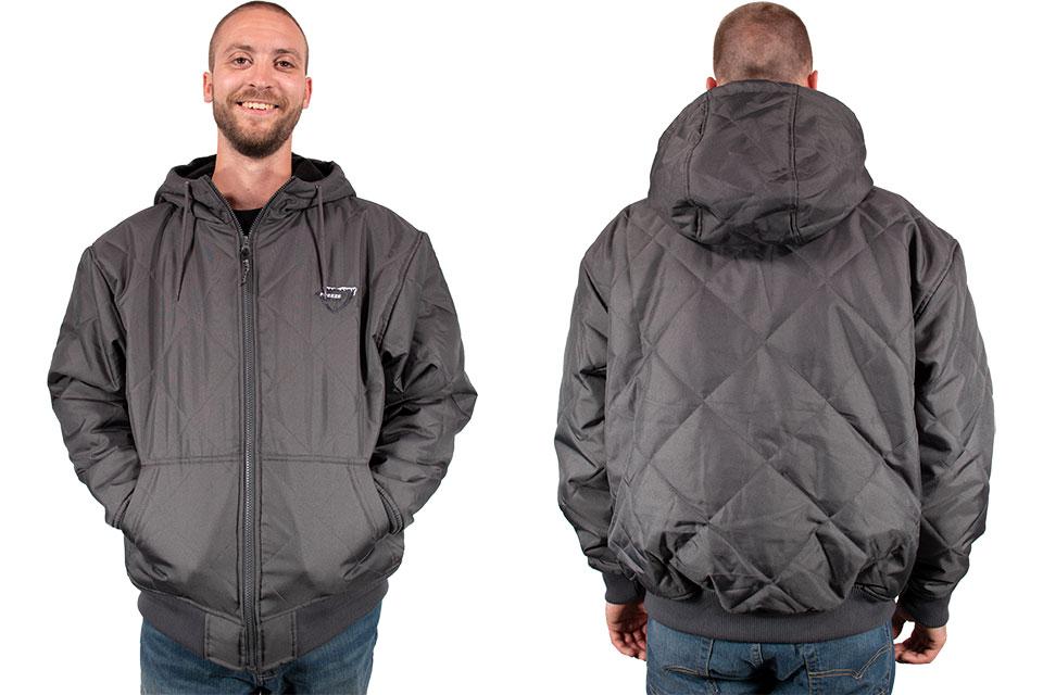 Freeze Defense Men's Quilted Jacket in Gray
