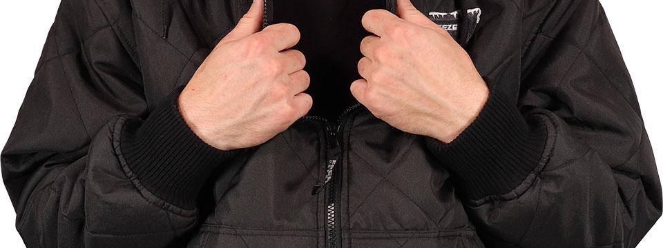 Freeze Defense Men's Quilted Jacket Elastic Wrist Cuffs