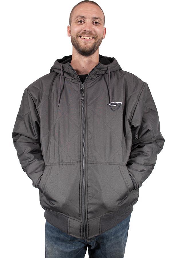 Freeze Defense Men's Quilted Fleece-lined Jacket in Gray
