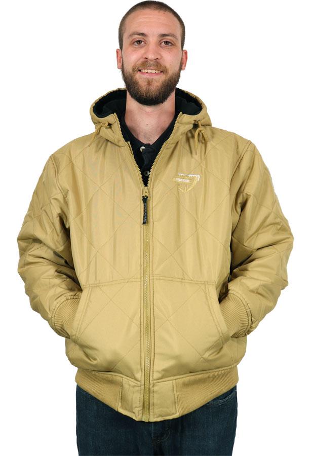 Freeze Defense Men's Quilted Fleece-lined Jacket in Khaki