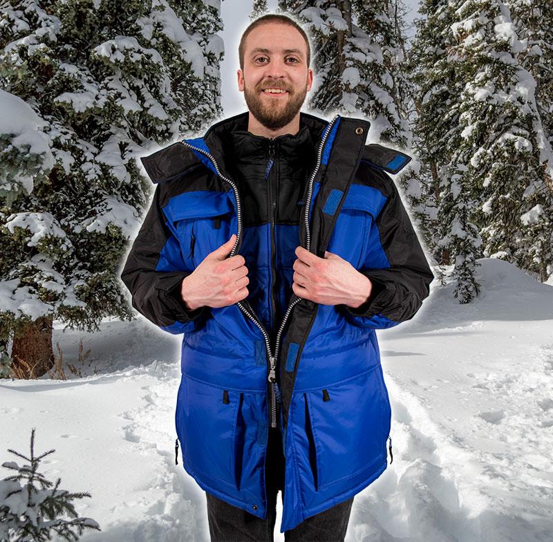 Freeze Defense Warmest Men's 3in1 Winter Coat for Men