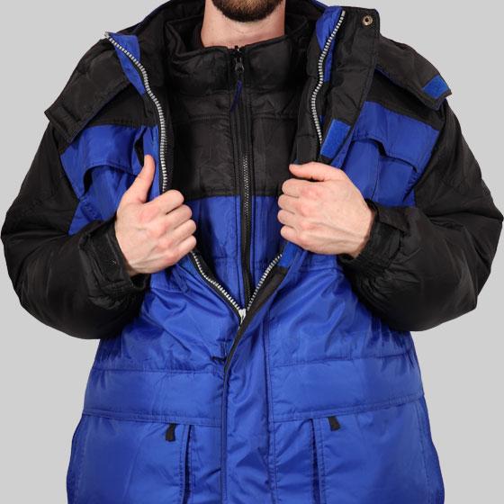 Freeze Defense Men's 3-in-1 Winter Coat with Vest