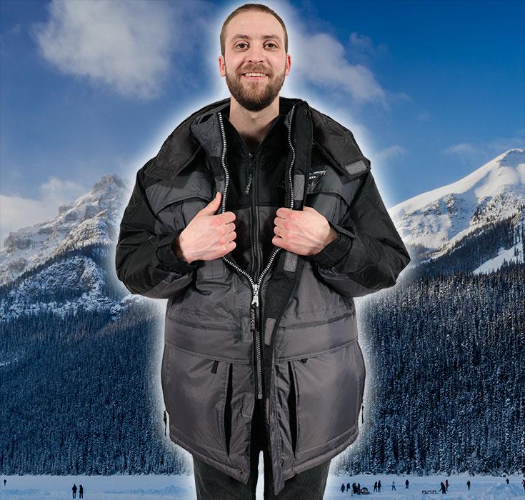 The warmest 3-in-1 winter coat for men